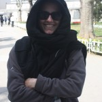Fleece as head scarf