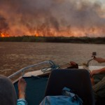 Dramatic fire